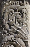 The bas-relief on the stone. Bas-relief in the form of floral ornament on a stone Stock Photo