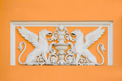 Bas-relief sur la vieille maison Photos libres de droits