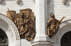 The bas-relief of the temple of Christ the Savior in Moscow Royalty Free Stock Images