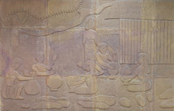 Bas-relief, Thai culture Royalty Free Stock Photography