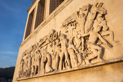 Bas relief , Trieste university Stock Photos