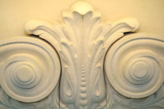 Bas-relief with vegetative ornament Royalty Free Stock Photo