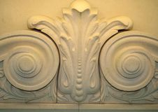 Bas-relief with vegetative ornament Stock Photo