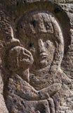Bas-relief Virgin Mary Stock Image