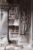 Bas-relief on the wall of Angkor Wat Temple. Siem Reap, Cambodia stock photos
