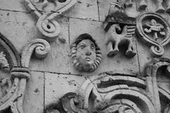 The bas-relief on the wall of a building Stock Images