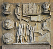 Bas-relief on the wall in center of Milan Royalty Free Stock Images