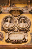 Bas-relief on the wall of Palazzo Ragione in Piazza dei Signori in Verona Royalty Free Stock Image