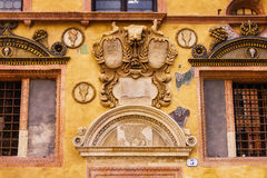 Bas-relief on the wall of Palazzo Ragione in Piazza dei Signori in Verona Stock Images