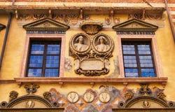 Bas-relief on the wall of Palazzo Ragione in Piazza dei Signori in Verona Stock Photography