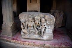 Bas reliefes in Hindoese tempel De Tempel van Ranganathaswamy van Sri Stock Fotografie