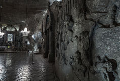 Bas-reliefes in St. Kinga's Chapel  - 101 meters underground in Royalty Free Stock Image