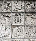 Bas-reliefs of animals Stock Image
