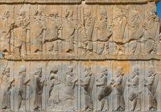 Bas-reliefs antigos de Persepolis imagem de stock royalty free