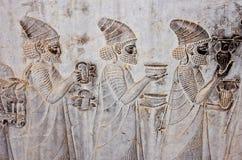 Bas-reliefs antiguos de Persepolis Fotografía de archivo libre de regalías