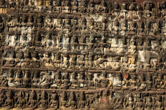 Free Bas-reliefs At Leper King In Angkor Thom Stock Photos - 55257843