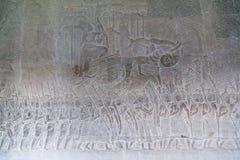 Bas-reliefs in Bakan Gallery of Angkor Wat  complex Stock Images