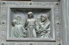 The bas-reliefs of characters from the Bible. royalty free stock image