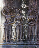 Bas-reliefs di Angkor Wat fotografia stock libera da diritti