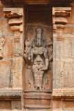 Bas reliefs in Hindu temple. Stock Photo