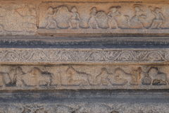 Bas-reliefs of old Hampi Stock Images