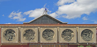 Free Bas-reliefs On The Building Of Former Lenin Museum Stock Photos - 58710983