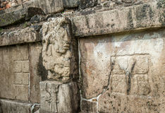 Bas-reliefs at Ruins of Palenque, Mexico Royalty Free Stock Image