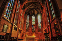 Bas Rhin,美丽如画的市Saverne在阿尔萨斯 免版税库存图片