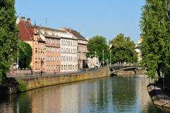 Bas Rhin, η γραφική πόλη του Στρασβούργου στην Αλσατία Στοκ Εικόνες