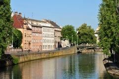 Bas Rhin den pittoreska staden av Strasbourg i Alsace Arkivfoto