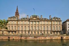 Bas Rhin, Le Palais Rohan in Strasbourg Stock Image