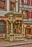 Bas rhin, the picturesque city of  Obernai in alsace Stock Photos