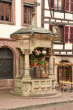 Bas rhin, the picturesque city of  Obernai in alsace Royalty Free Stock Images