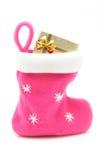 Bas rose de Noël image stock