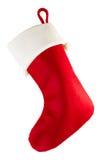 Bas rouge de Noël Images libres de droits