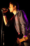 bas- sjunga för spelare Royaltyfri Fotografi