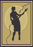 Bas speler royalty-vrije illustratie