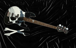 bas- svart gitarr Royaltyfria Foton