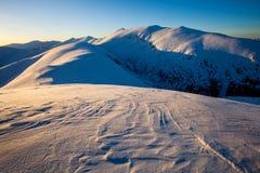 Bas Tatras dans la lumière de soirée Image stock
