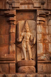 Bas ulga. Brihadishwara świątynia, Tanjore fotografia stock