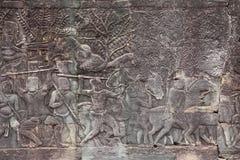 Bas ulga w Bayon świątyni fotografia stock