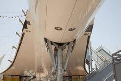 Bas ventre de Concorde supersonique à Manhattan Image libre de droits