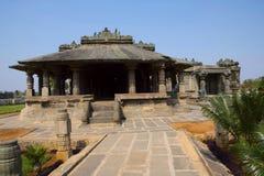 BASADI,其中一个寺庙Lakkundi的最早的例子在卡纳塔克邦Gadag区  免版税图库摄影