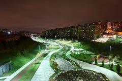 Basaksehir在晚上 免版税库存照片