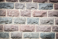 Basalt blocks lined Royalty Free Stock Photography