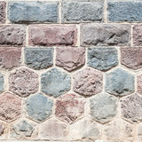 Basalt blocks lined Royalty Free Stock Photos