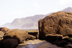 Basalt boulders rounded by the sea Royalty Free Stock Photography