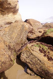 Basalt boulders rounded by the sea Royalty Free Stock Photos