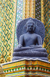 Basalt Buddha, Wat Phra Kaew, Grand Palace, Bangkok Royalty Free Stock Image
