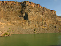 Basalt Canyon Wall Stock Photo
